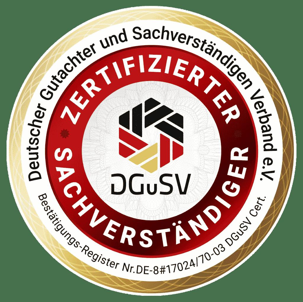 kfz gutachter zertifizierung SGuSV 2020